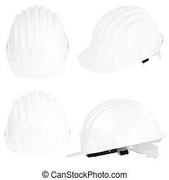 safety helmet - Plastic safety helmet on white background