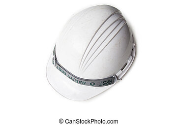 safety helmet  - Plastic safety helmet on white background