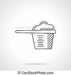 Plastic scoop flat line vector icon