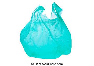 Plastic shopping bag - A verdant plastic shopping bag....