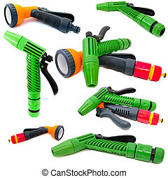 Plastic spray for irrigation