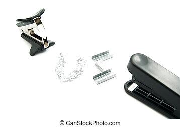 plastic stapler and staple remover