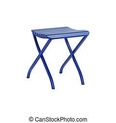 plastic stool isolated on white