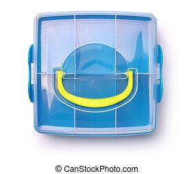 Plastic storage box - Top view of plastic storage box...