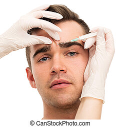 Plastic surgery. Attractive, handsome man - Plastic surgery....