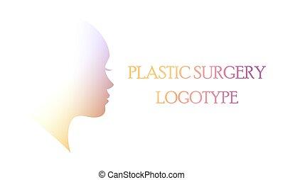 Plastic surgery clinic logo. The medical beauty