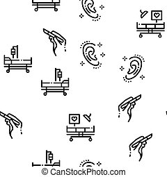 Plastic Surgery Clinic Seamless Pattern Vector