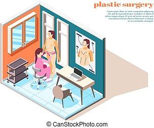 Plastic Surgery Isometric Composition