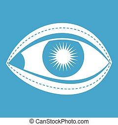 Plastic surgery of eye icon white
