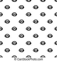 Plastic surgery of eye pattern vector