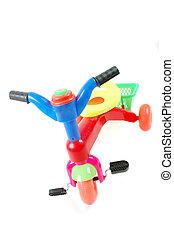 plastic toy bicycle