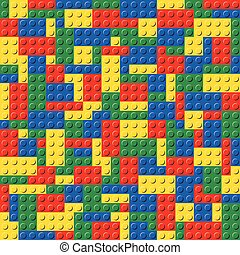Plastic Toy Brick System Seamless Background