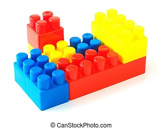 plastic toy bricks