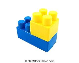 plastic toy bricks