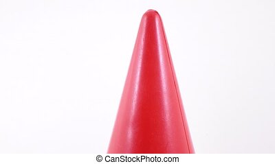 Plastic toy cone rotation - Rotation of children's plastic...
