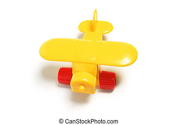 Plastic Toy Plane on White Background