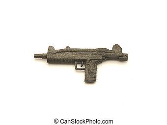plastic toy uzi sub-machine gun