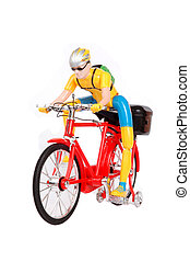 plastic toys cyclists