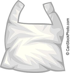 plastic trash bag vector illustration