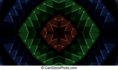 plastic triangle mosaics, buddhism flower pattern.