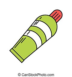 plastic tube cream icon