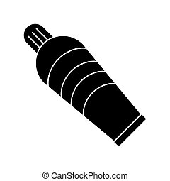 plastic tube cream pictogram