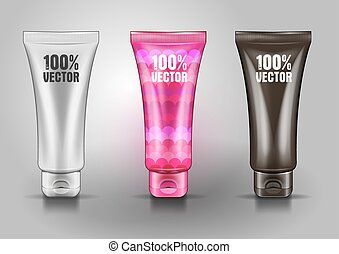 Plastic tube for cosmetic creams.