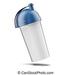plastic vitamin shaker  isolated on a white background