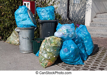 plastic waste - garbage disposal - waste separation