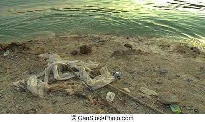 Plastic Wastes At The Bank Of Lake Temenggor, KL