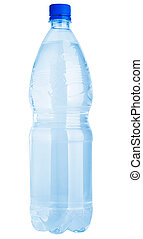 Plastic water bottle isolated on a white background