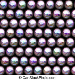 Plastic waves cells seamless texture