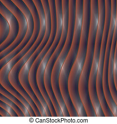 Plastic waves generated texture