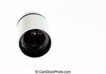 lamp holder - Plastic white lamp holder for E27 socket