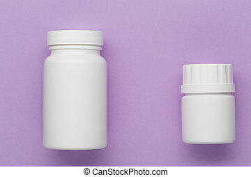 Plastic white medical bottle