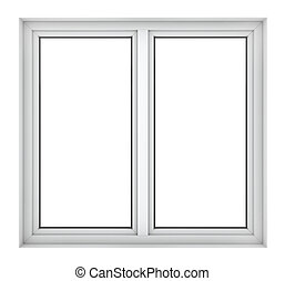 Plastic window frame - 3d render of plastic window frame ...