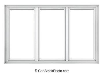 Plastic window frame - 3d render of plastic window frame...