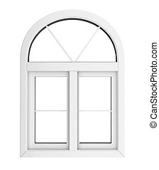 Plastic window isolated for private construction template...