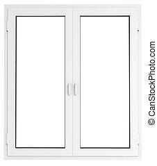Plastic window - Closed plastic window template model with...