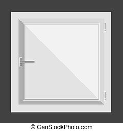 Plastic window. Vector illustration