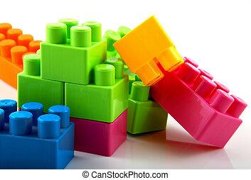 plastica, costruzione blocca