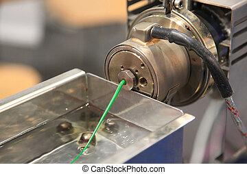 plastica, filamento, continuo, extrusion
