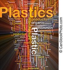 plastica, materiale, concetto, ardendo, fondo