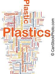 plastica, materiale, concetto, fondo