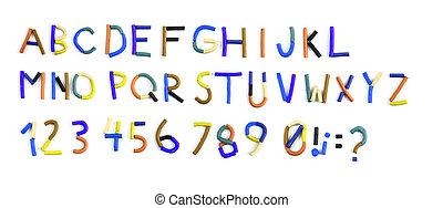 plasticine alphabet