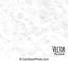 Plasticine background white