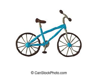 Plasticine bicycle