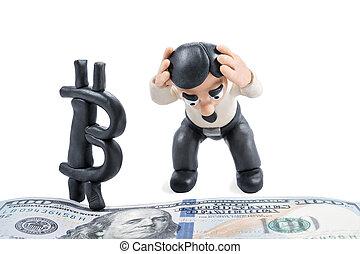 Plasticine businessman dissatisfied with bitcoin