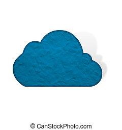 Plasticine cloud on white background, isolated