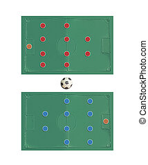 Plasticine Football Game plan , manage on clay board